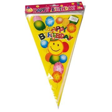 3 PACKS x YELLOW HAPPY BIRTHDAY PARTY BUNTING